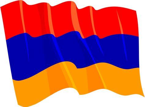 Political waving flag of Armenia