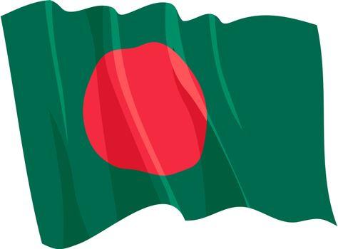 Political waving flag of Bangladesh