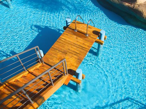 Swimming pool at the spa hotel