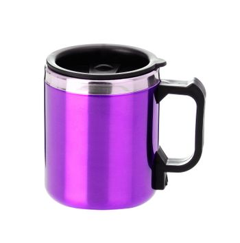 thermos mug with black handle