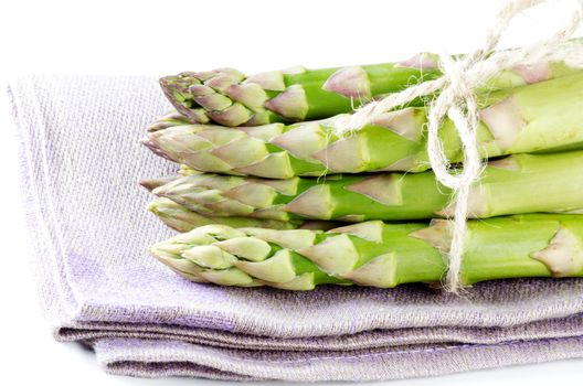 Asparagus on napkin