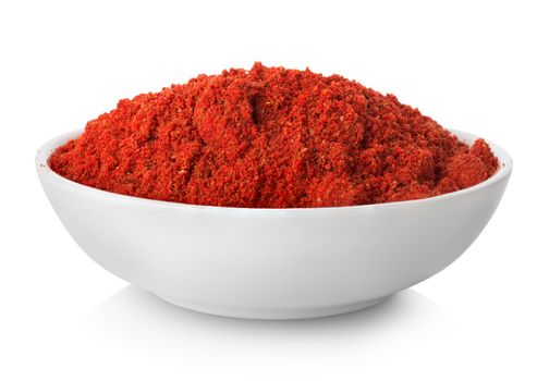 Ground paprika in plate