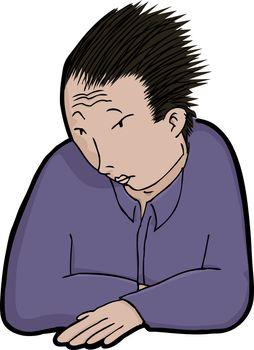 Asian Man in Solitude
