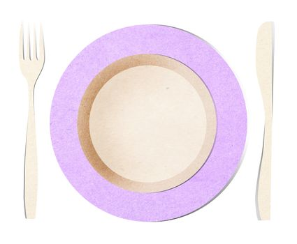 dish fork and knife recycled paper stick
