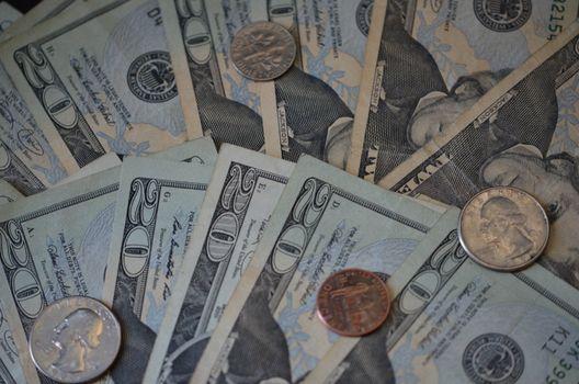 us currency twenty dollar bills and change