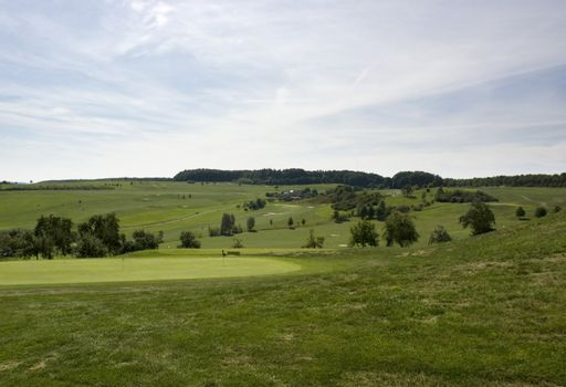 detail of a golf course in Southern Germany