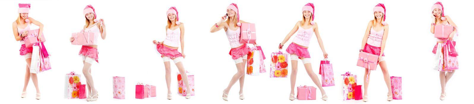 Santa helper with presents