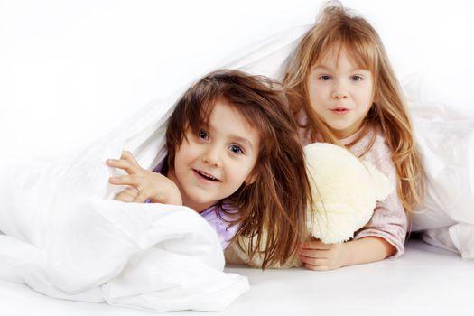 Children in bed