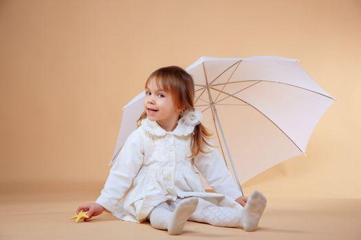Nice girl with umbrella