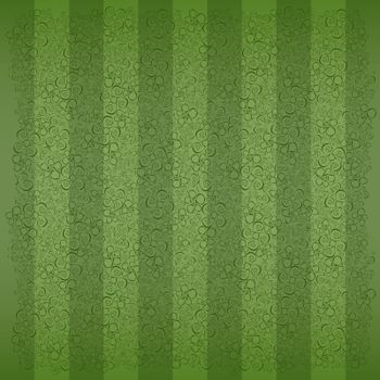 fine green striped background with flowers and butterflies