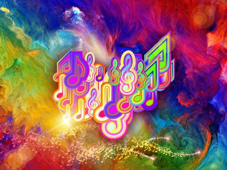 Vivid colors of music