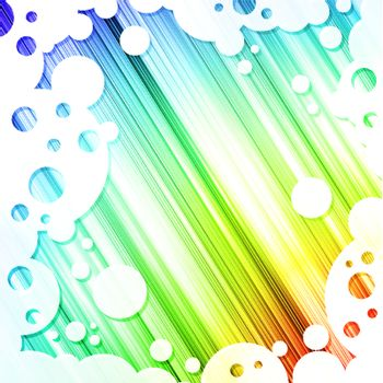 Rainbow multicolored abstract bright background in abstract frame with round shapes