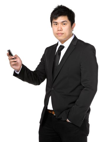 young business man with mobile phone