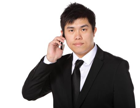 young business man on the phone