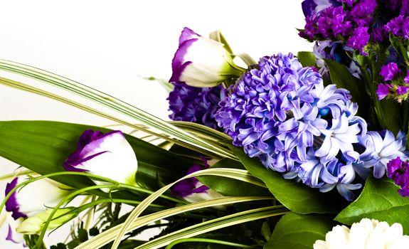 blue fuzzy (hyacinthus orientalis) bouquet