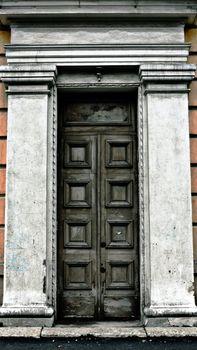 old terrible door