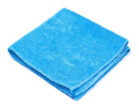 blue microfiber duster