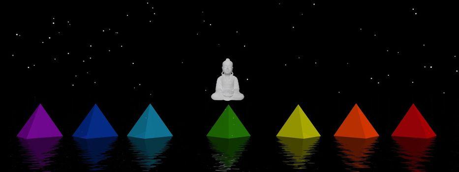 pyramids chakras and buddha