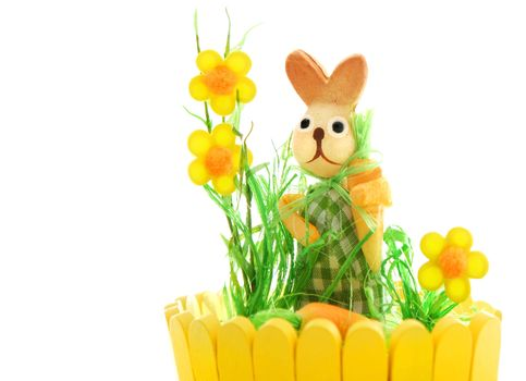 Easter rabbit isolated on white background