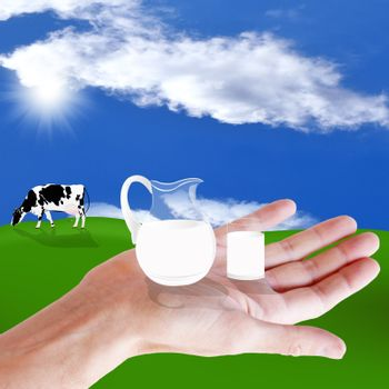 A healthy dairy food.   The concept