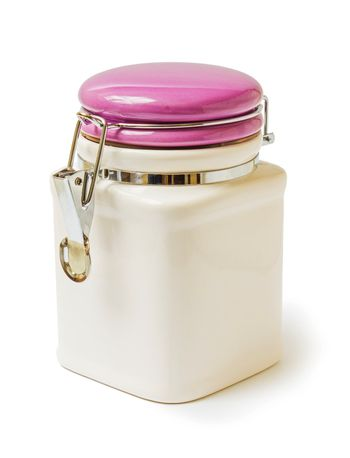 ceramic container with a lid