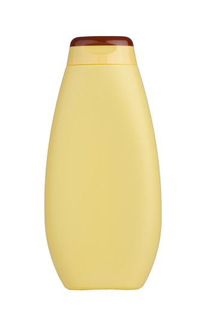 Yellow shampoo bottle