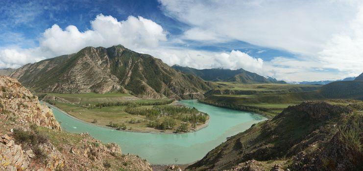 Altai mountains. Beautiful highland landscape. Russia. Siberia