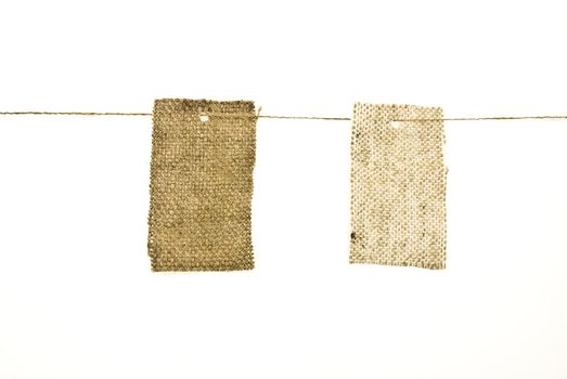Sackcloth labels