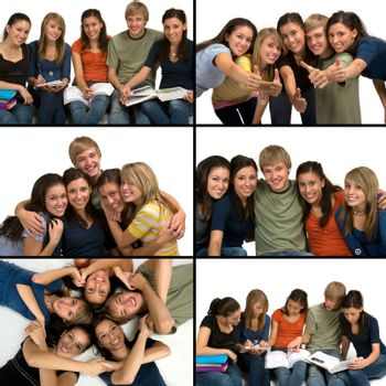Collage of happy, diverse, successful students