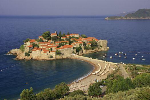 Sveti Stefan island, Montenegro, Balkans