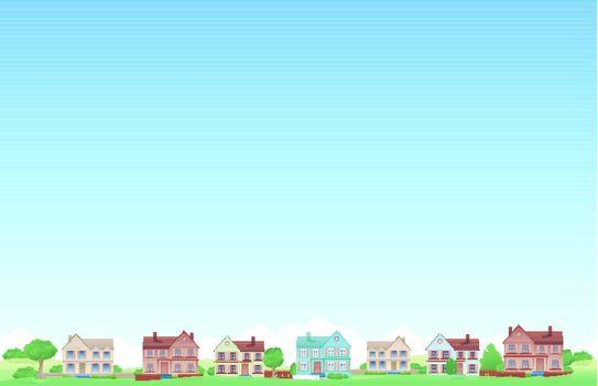 Suburb city background