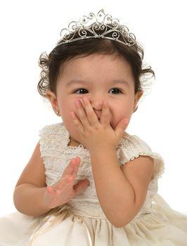 A cute baby girl