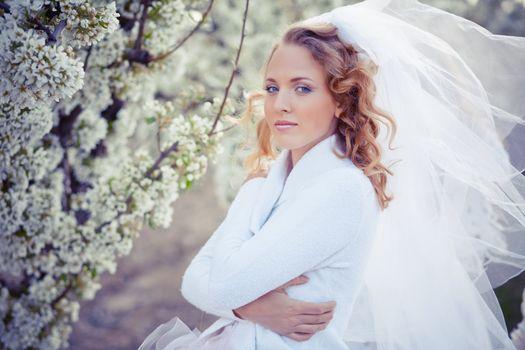 Serene portrait of bride