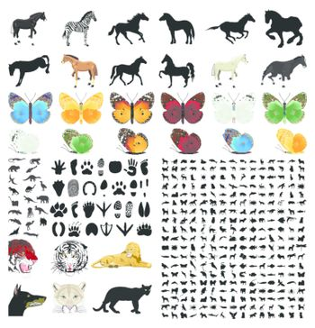The big collection of vector animals. A vector illustration