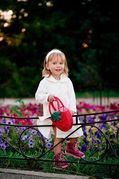 Funny playful girl