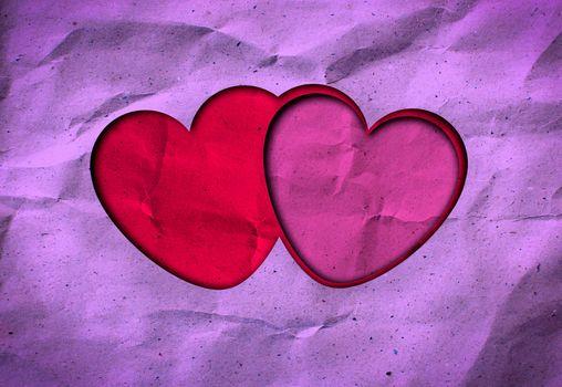 grunge love heart paper for valentine background