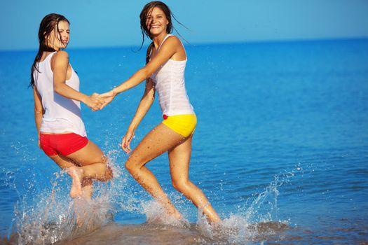 Girls in water
