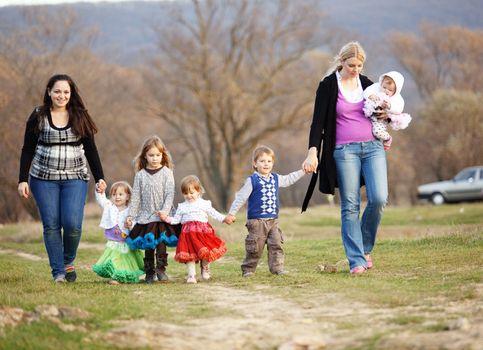 Walk with children