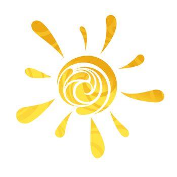 abstract vector sun