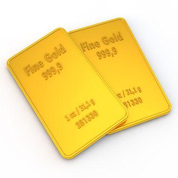 2 Mini Gold Bars - 1 ounce