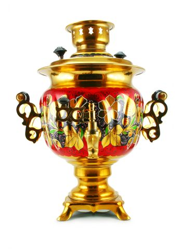 Old golden samovar