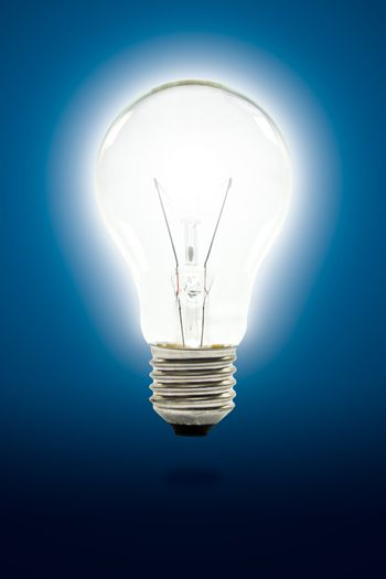 light bulb with clipping path