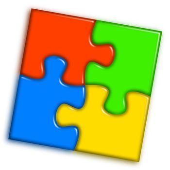 Combined multi-color puzzle 2