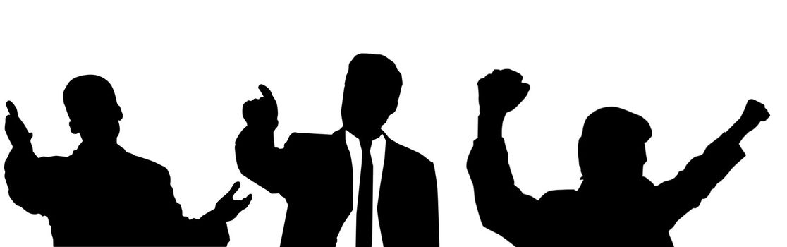 An image of silhouette of people