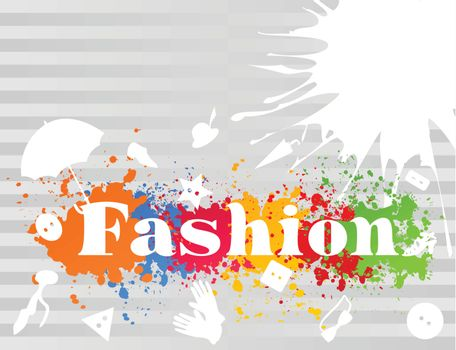 Word a fashion in abstract style. A vector illustration