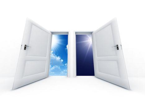 White opened doors