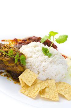 Famous malaysian food nasi lemak