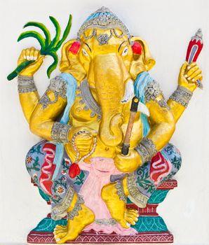 Indian or Hindu God Named Yoga Ganapati , temple in thailand