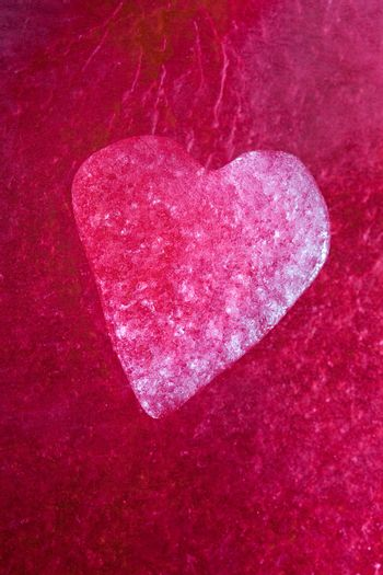 Icy red heart