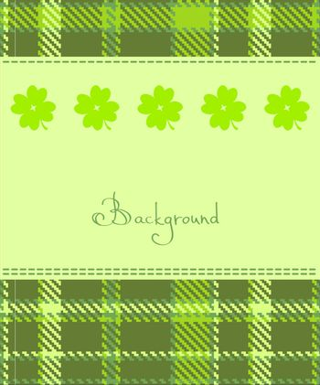 Four leaf clover textile label